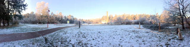 Der Campus im Winter