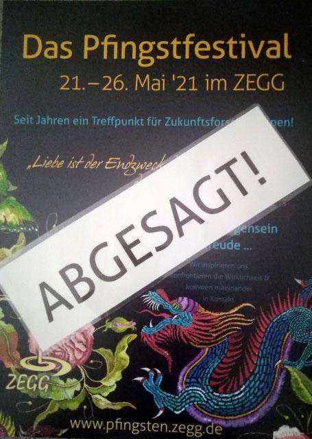 Pfingstfestival abgesagt